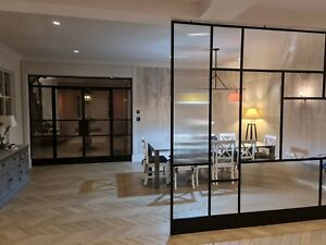 Industrial ORIGINAL Steel Crittall Inspired Doors & Panels Any Size & Colour CAD