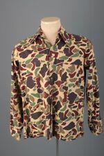 Vtg Men's 1970s Designers Choice Butterfly Collar Disco Camo Shirt Med 70s