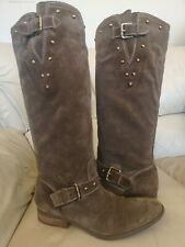 Guess by Marciano suede Leather Studd Riding Knee High Boots 6.5UK EU 40 heel1""
