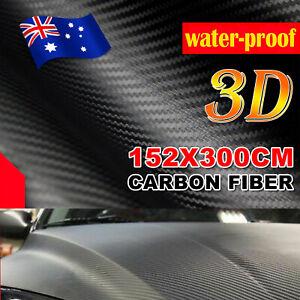 1.52M X 3M 3D CARBON FIBER FIBRE CAR VINYL WRAP FILM ROLL AIR RELEASE