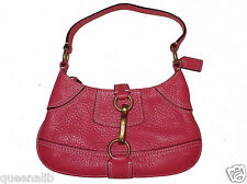 COACH Small Hobo HAMPTON Rosy PINK Leather evening Shoulder Bag 10284 NEW $178