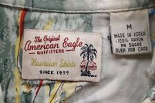 Mens American Eagle Medium M Multicolor Button Down Hawaiian Shirt Floral SS EUC