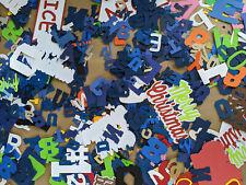 Die Cut Letters / Numbers Lot 100+ Cardstock Paper Scrapbook Assortment