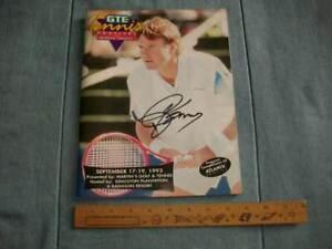 1993 GTE Tennis Festival Program - Autographed by Jimmy Connors
