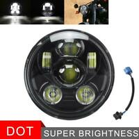 DOT 5.75 5 3/4 LED Headlight Hi-Lo Motorcycle For Harley Dyna Sportster 883 1200