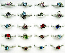 20pcs wholesale lots rhinestone silver Plated Rings New free shipping