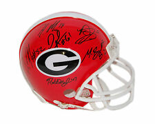 Gurley Murray Conley Andrews + 5 Georgia Bulldogs Autographed Mini Helmet 9 sigs