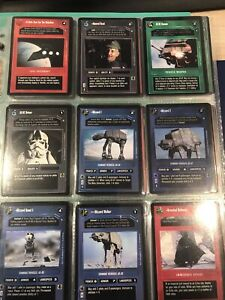 Star Wars Ccg Decipher Hoth Set Complete (black and white Border)