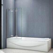 1000x1400mm 3 Fold Folding Hinge Bath Shower Screen 6mm Glass Door Panel