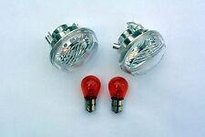 Blanc clignotant verres kawasaki vn 1700 Classic tourer Clear signal Lenses