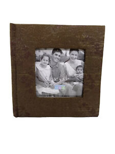 "3.5"" X 3.5"" Make Your Mark MYX Gold Edges Dry-Mount Photo Album"