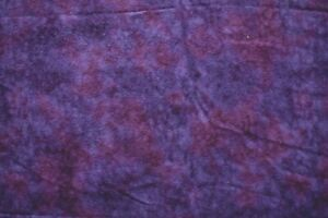 PURPLE  DISTRESSED  100% COTTON FLANNEL FABRIC 45X42  INCHES
