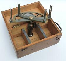 GRAPHOMETRE a Pinnules,Instrument Géometre et Mesures  COFFRET BOIS
