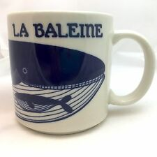 Taylor and Ng Coffee Mug La Baleine Whale 1979 Japan Blue Whale Mother and Calf