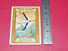 CHROMO 1910-1920 BON-POINT ECOLE IMAGE RECOMPENSE BLEDINE JACQUEMAIRE CIGOGNE