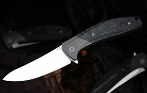 Custom Knife Factory MKAD Marun Folding Knife S90V Blade Titanium & Carbon Fiber