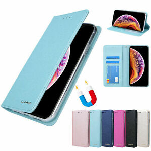 For iPhone 12 11 Pro Max SE Magnetic Leather Flip Cover Card Wallet Stand Case