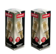 2 X Eveready 15w Refrigerator Fridge Freezer Appliance SES E14 Screw Bulb Pygmy