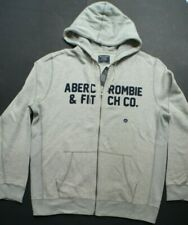 NEW Men's ANF ABERCROMBIE & FITCH Gray Hoodie Jacket Sz. L