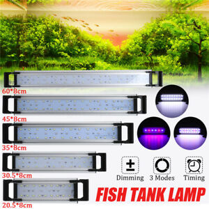 20-60CM LED Aquarium ish Tank LED Light Timing 3 Modes Plant Grow Marine  J