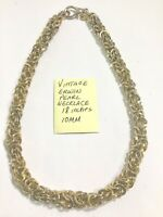 Vintage Erwin Pearl Necklace 18 Inches 10mm