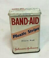 ~Vintage EMPTY Metal Band Aid Tin PLASTIC STRIPS Johnson & Johnson