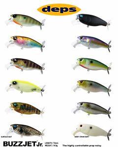 Deps Buzzjet Jr. Topwater Lure - Select Color(s)