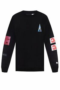 adidas by Alexander Wang Flex2Club Crew Sweatshirt Black RRP £200 Brand New NYC