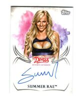 WWE Summer Rae 2015 Topps Undisputed Divas Authentic On Card Autograph FD