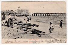 1905 Ocean Park, CA Postcard - Ocean Park - Roller Coaster, Pier - Posted