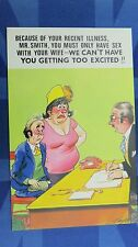 Risque Bamforth Comic Postcard 1970s Doctor Sex With Wife Mr Smith Theme