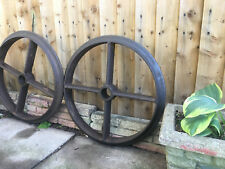 4 Attractive And Durable The Cheapest Price Vintage Set Of Art Deco Cast Iron Wheel Assemblies To Upcycle Table Etc