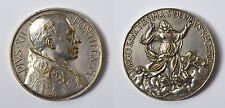 Medaille Bronze versilbert Vatikan Papst Pius XII. Aurelio Mistruzzi