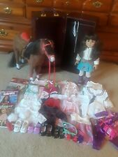 American Girl Doll Samantha Lot-Doll-Clothes-Wooden Chest-Horse- HUGE LOT