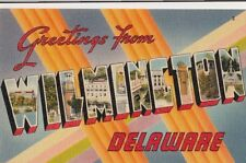 Postcard Greetings From Wilmington Delaware De