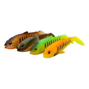 SAVAGE GEAR CRAFT CANNIBAL PADDLETAIL SHAD LURES 4PC MIX CLEAR OR DARK WATER