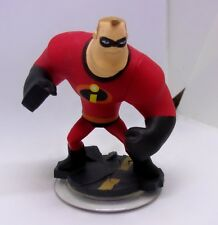 """NEW DISNEY PIXAR MR INCREDIBLE 3.5"""" POSEABLE ACTION FIGURE CAKE TOPPER ON STAND"""