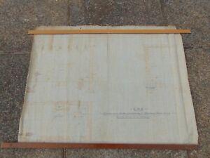 original 1876 cloth drawing GNR Train railway Bardney tank house lincoln (35)