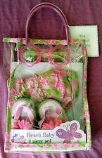 MAYFAIR BEACH BABY 4-PIECE GIFT SET - HAT SUNGLASSES SANDALS TOTE- PNK FLORAL #2
