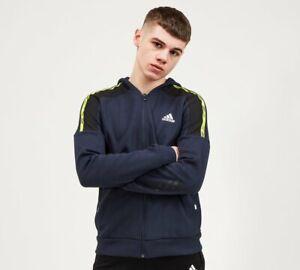 adidas - Junior Branded Zip Hoodie (Navy) Kids