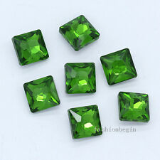 30p 12mm square point back faceted crystal glass stone foiled rhinestones jewels