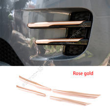 For Land Rover Range Rover Evoque 2020 Rose gold Front Fog Lamp Trim Cover 4PCS