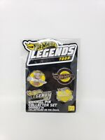 Hot Wheels 2019 Legends Tour Enamel Pin Set of 4 Collector Pins