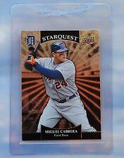 2009 Upper Starquest Miguel Cabrera Detroit Tigers Baseball Card. Silver SQ-19.