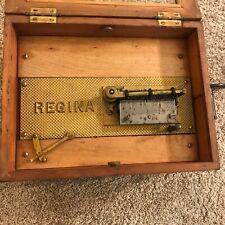 """Antique Regina 8"""" Disc Music Box as-is"""