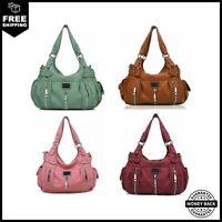 Scarleton Satchel Handbag for Women Ultra Soft Washed Vegan Leather Crossbody