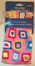 Fun Multicolored Microfiber Drawstring Pouch