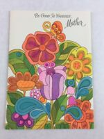 Vintage New Mother Birthday Card Flowers Gibson Made in USA