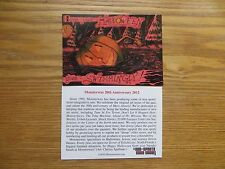 2012  MONSTERWAX 20TH ANNIVERSRY HALLOWEEN PROMO CARD PHILLY NON-SPORT SHOW