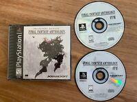 Final Fantasy Anthology (Sony PlayStation 1, 1999) Black label FREE SHIPPING